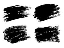 Vector black paint, ink brush stroke, brush, line or texture. Di Royalty Free Stock Photo