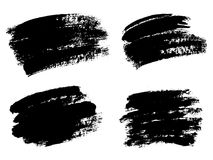 Vector black paint, ink brush stroke, brush, line or texture. Di Stock Images