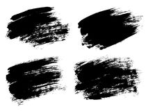 Vector black paint, ink brush stroke, brush, line or texture. Di Royalty Free Stock Photos