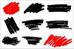 Vector black paint, ink brush stroke, brush, line or texture. Di Stock Illustration