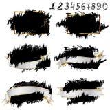 Vector black paint, ink brush stroke, brush, line or texture. Stock Image