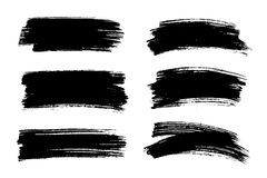 Vector Black Paint, Ink Brush Stroke, Texture. Royalty Free Stock Image