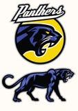 Black panther mascot set Stock Photos