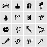Vector black party icon set Stock Images