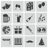 Vector black  party icons Stock Photography