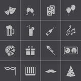Vector black  party icons set. This is file of EPS10 format Royalty Free Stock Image