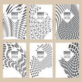 Vector black pattern set of Vintage background banner retro broc Stock Photos