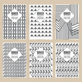 Vector black pattern set of Vintage background banner retro broc Royalty Free Stock Photography