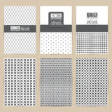 Vector black pattern set of Vintage background banner Royalty Free Stock Photography