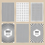 Vector black pattern set of Vintage background banner retro  Royalty Free Stock Image