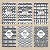 Vector black pattern set of Vintage background banner retro  Stock Images