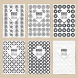 Vector black pattern set of Vintage background banner  Royalty Free Stock Image
