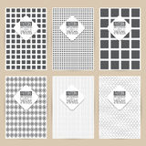 Vector black pattern set of Vintage background banner Royalty Free Stock Photos