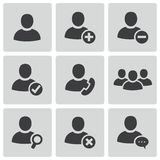 Vector black people icons set Stock Photos