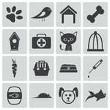 Vector black  pet icons Stock Photo