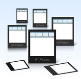 Vector black photo frames Stock Photo