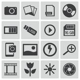 Vector black  photo icons Royalty Free Stock Photography