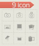 Vector black photo icons set Royalty Free Stock Photo