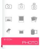 Vector black photo icons set Stock Photo