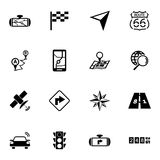 Vector black pills icon set Royalty Free Stock Image