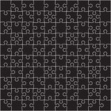Vector Black Puzzles Pieces Square GigSaw - 100. Stock Images