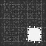 Vector Black Puzzles Pieces Square GigSaw - 100. Royalty Free Stock Photos