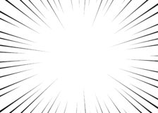 Vector black radial lines for comics, superhero action. Manga frame speed, motion, explosion background. Isolated background. royalty free illustration