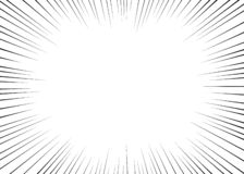 Vector black radial lines for comics, superhero action. Manga frame speed, motion, explosion background. Isolated background. vector illustration