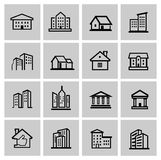 Vector black real estate set Stock Photo