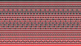Vector black red lines Royalty Free Stock Images