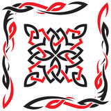 Vector black and red ornament for design Royalty Free Stock Photography