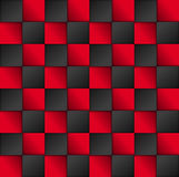 Vector black and red squares background. Abstract vector background Royalty Free Stock Photo