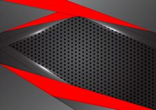 Vector black and red triangle is overlap abstract background with copy space royalty free stock images