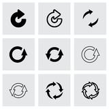 Vector black refresh icon set Royalty Free Stock Images