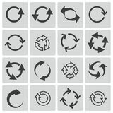 Vector black refresh icons Royalty Free Stock Image