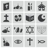 Vector black  religion icons Stock Image