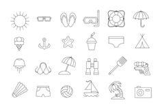 Vector black resort icons set Stock Image