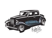 Vector black Retro car Royalty Free Stock Photography