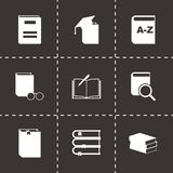 Vector black schoolbook icon set Stock Image