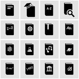 Vector black schoolbook icon set Royalty Free Stock Images