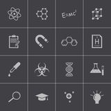 Vector black science icon set Stock Photos