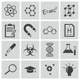 Vector black  science icons Royalty Free Stock Photos