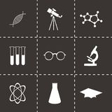 Vector black science icons set Stock Image