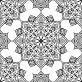 Vector black seamless ornament. Stock Image