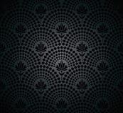 Vector black seamless wallpaper pattern Royalty Free Stock Image