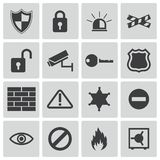 Vector black  security icons Stock Images