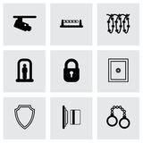 Vector black security icons set Stock Photo