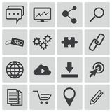 Vector black  seo icons Royalty Free Stock Photography