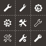Vector black settings wrench icon set Royalty Free Stock Image