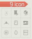 Vector black sewing icons set Stock Image